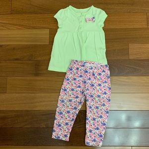 Carters 2 piece baby girl matching outfit 12 month
